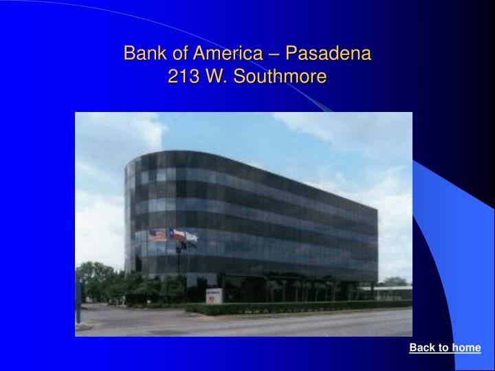 Bank of America – Pasadena