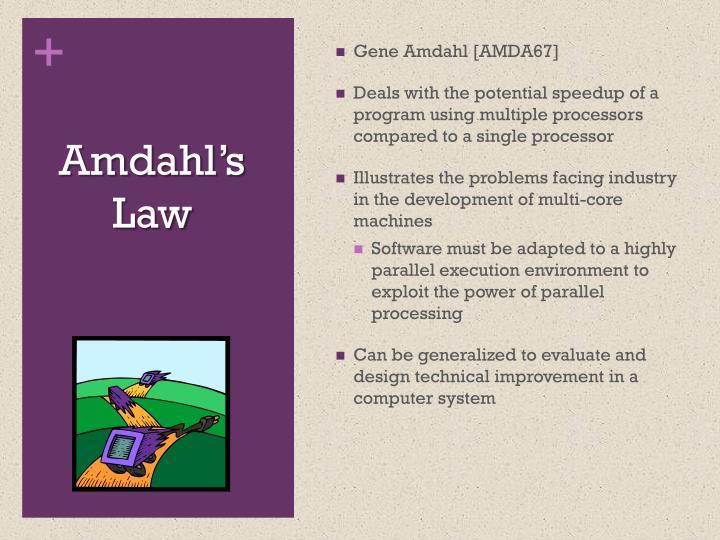 Gene Amdahl [AMDA67]