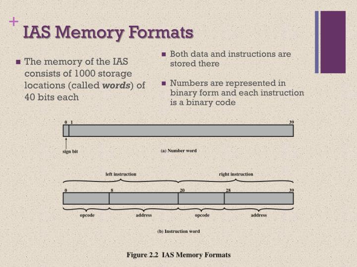 IAS Memory Formats
