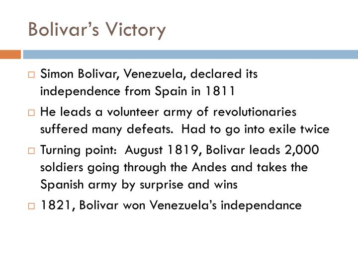 Bolivar's Victory