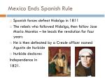 mexico ends spanish rule1