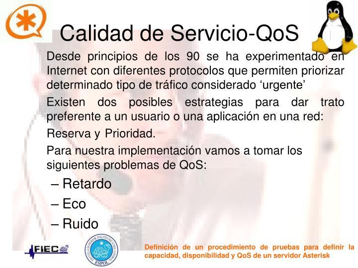 Calidad de Servicio-QoS