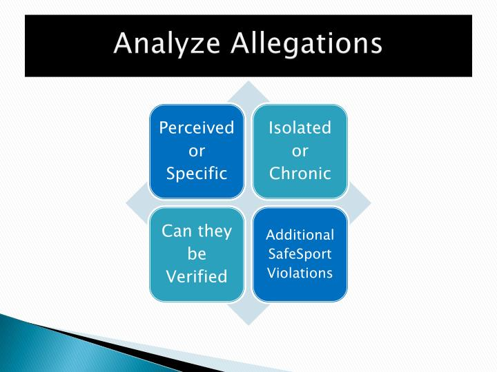 Analyze Allegations