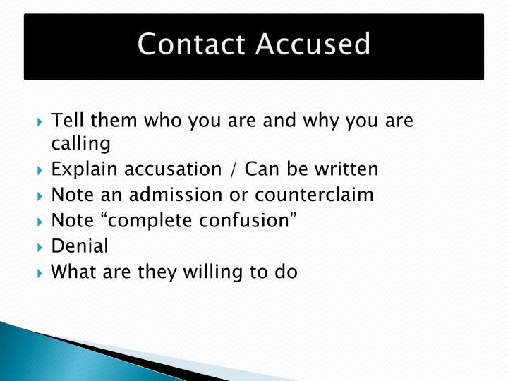 Contact Accused