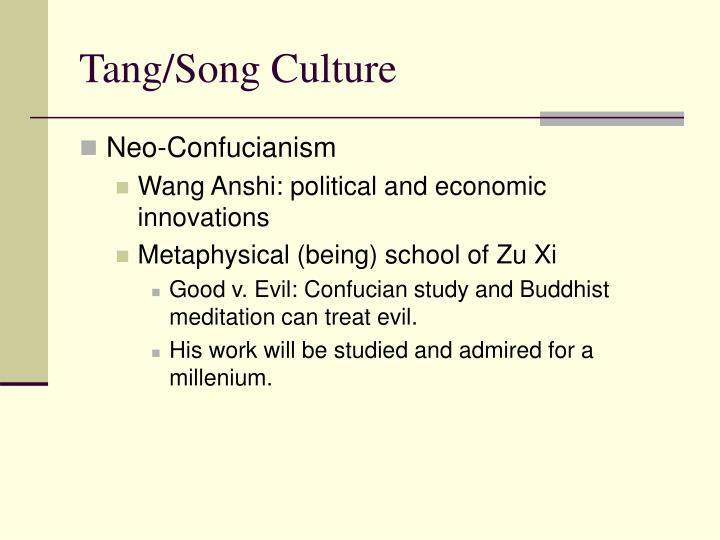 comparison of the tang and song Song, yuan, ming and qing dynasties (960-1911) the period of the five dynasties and ten states, which succeeded the tang dynasty, was one of almost continual warfare.