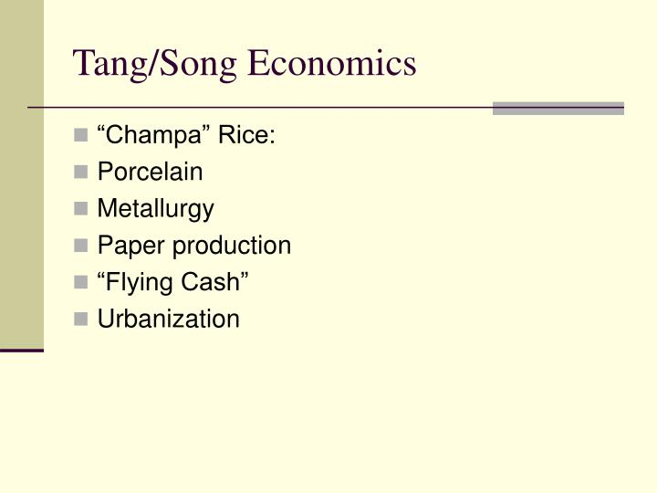 comparing the tang and song dynasties In the book the course of sexes: from song to qing dynasty, author wang wei compares the status of women in the song and tang dynasties if that is not enough to prove that women enjoyed higher social status in the song dynasty than in the tang dynasty.
