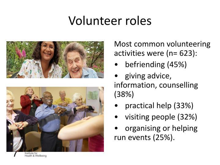 Volunteer roles
