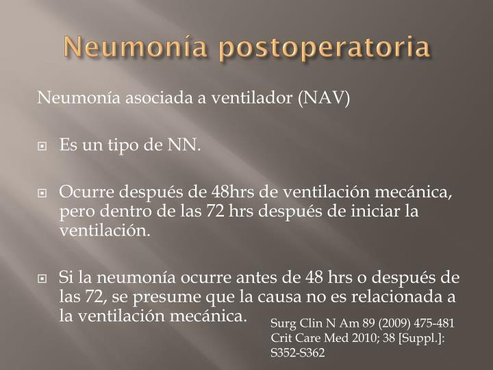 Neumonía postoperatoria
