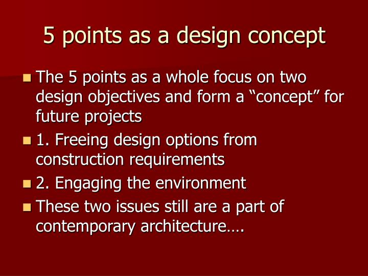 5 points as a design concept