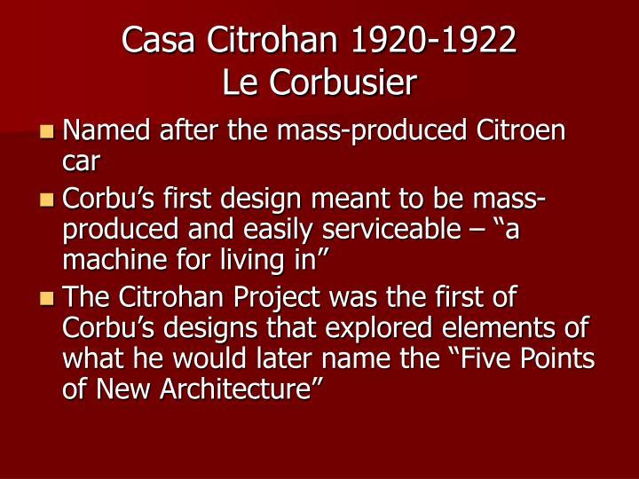 Casa Citrohan 1920-1922