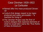 casa citrohan 1920 1922 le corbusier