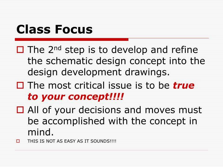 Class Focus
