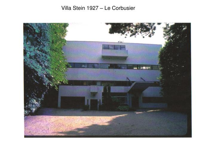 Villa Stein 1927 – Le Corbusier