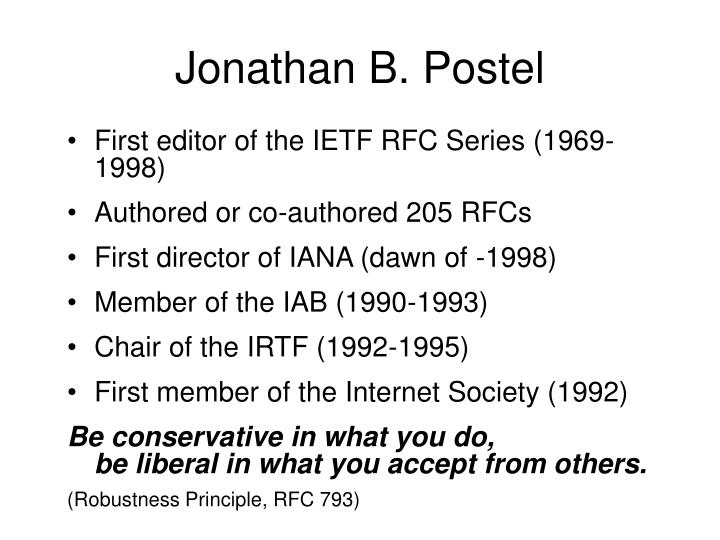 Jonathan B. Postel