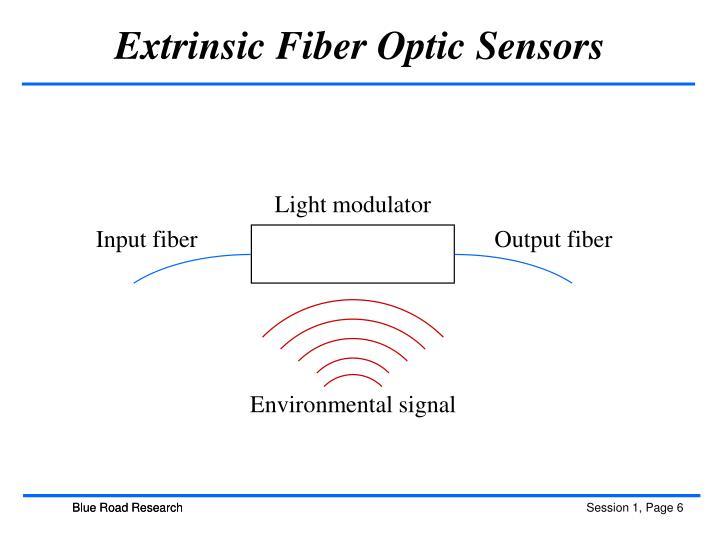 Extrinsic Fiber Optic Sensors