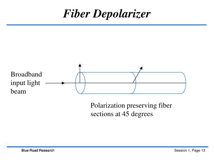 Fiber Depolarizer