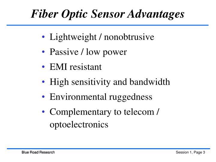 Fiber Optic Sensor Advantages