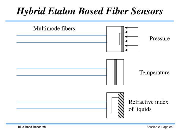 Hybrid Etalon Based Fiber Sensors