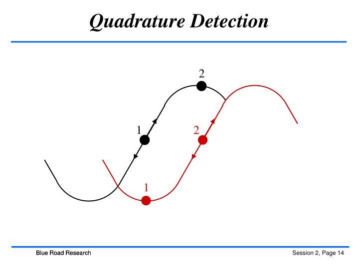 Quadrature Detection