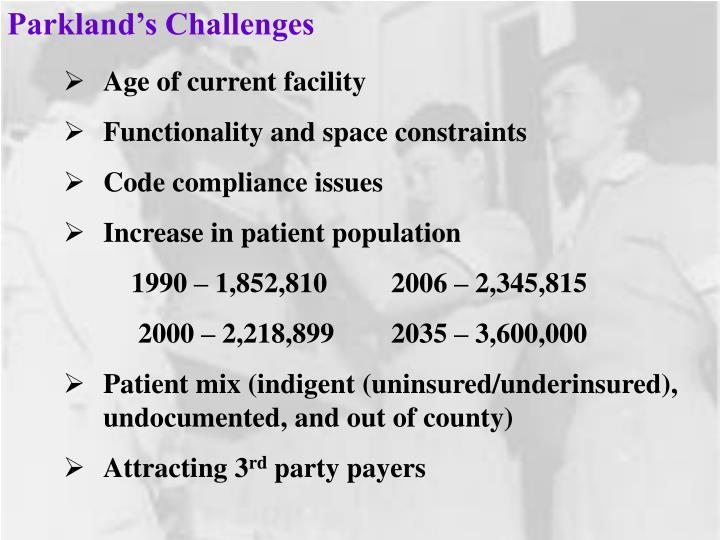 Parkland's Challenges