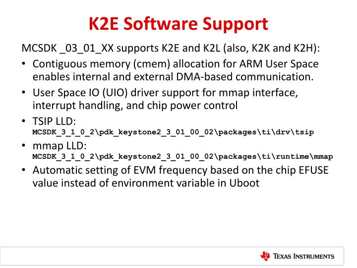 K2E Software Support