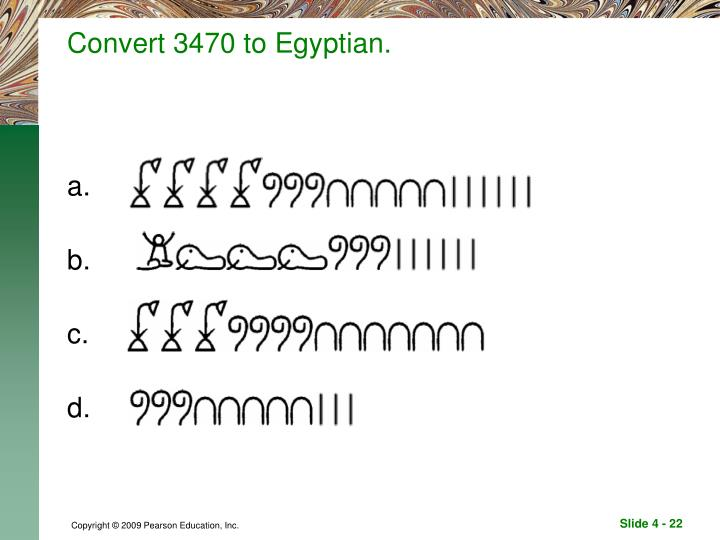 Convert 3470 to Egyptian.