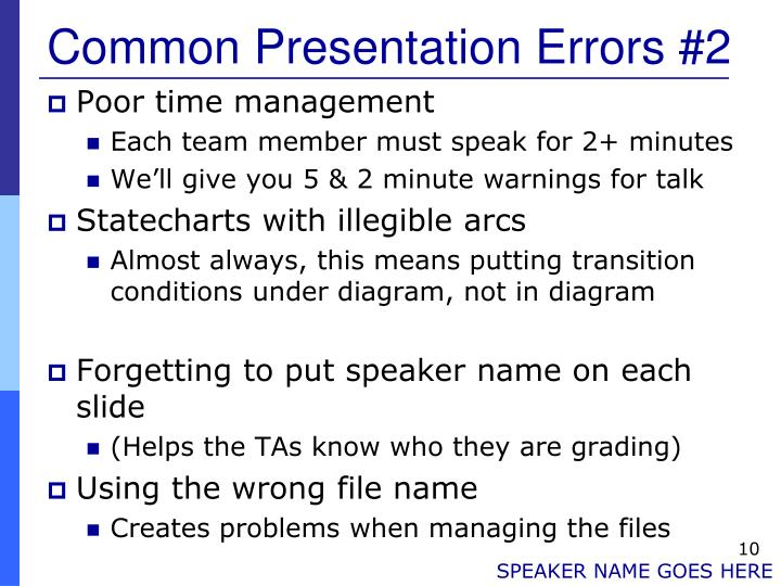 Common Presentation Errors #2