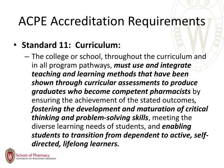 ACPE Accreditation Requirements