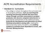 acpe accreditation requirements