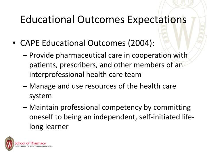 Educational Outcomes Expectations
