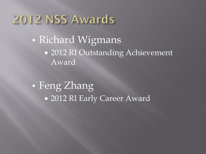 2012 NSS Awards