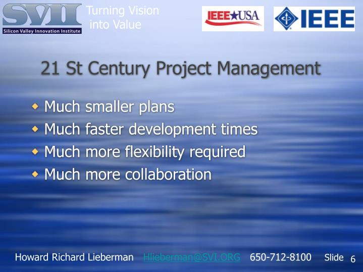 21 St Century Project Management