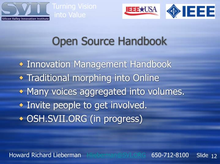Open Source Handbook