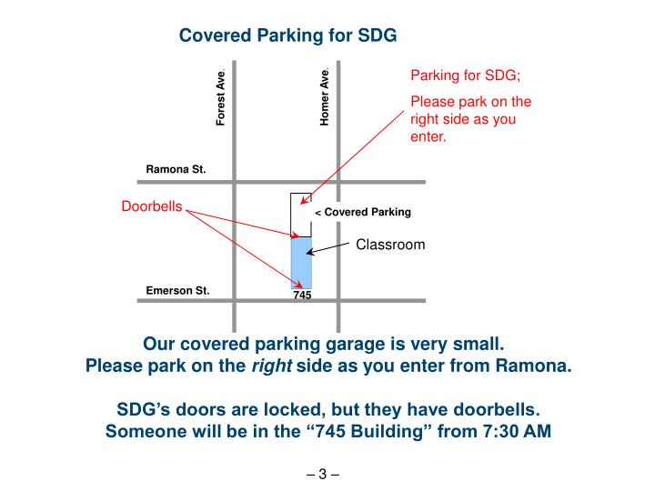 Covered Parking for SDG