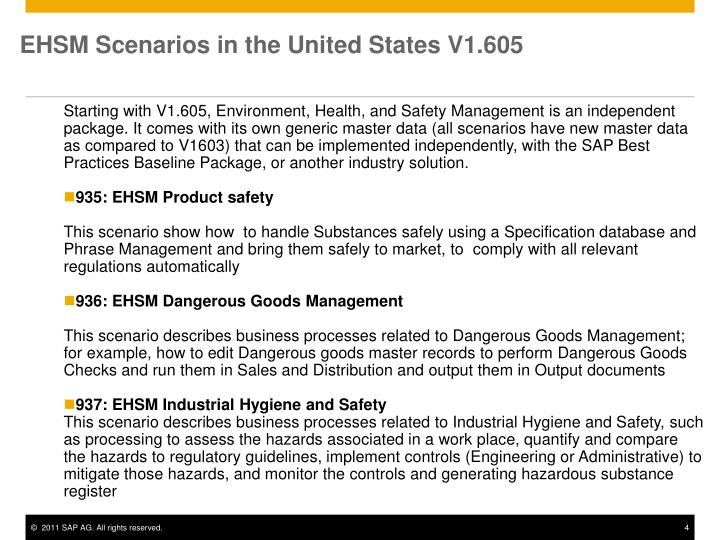 EHSM Scenarios in the United States V1.605