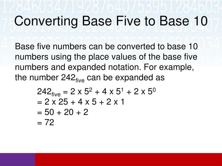 Converting Base Five to Base 10