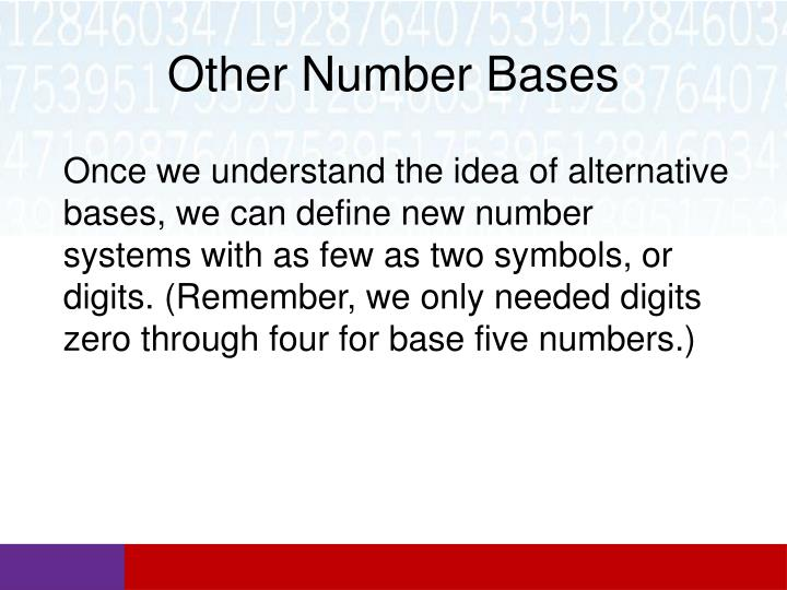 Other Number Bases