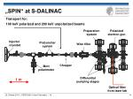 spin at s dalinac