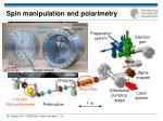 spin manipulation and polarimetry