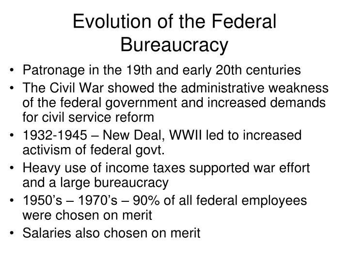 Evolution of the Federal Bureaucracy