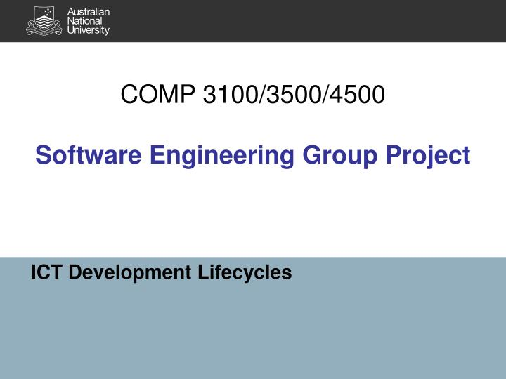 Comp 3100 3500 4500 software engineering group project