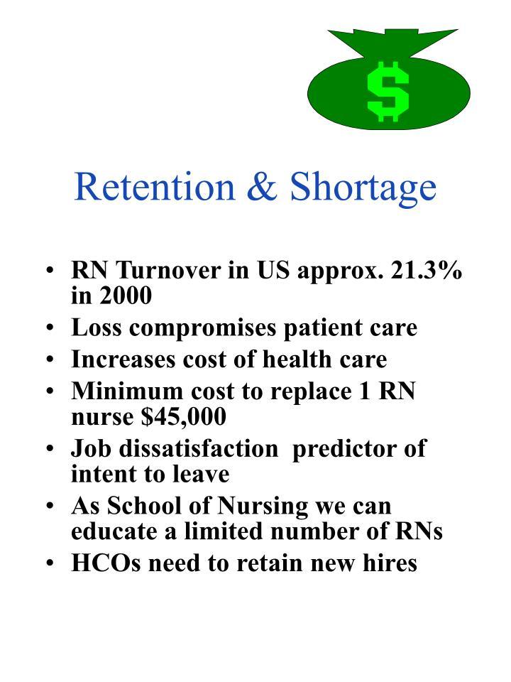 Retention & Shortage