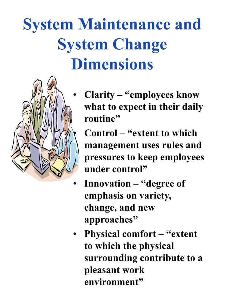 System Maintenance and System Change Dimensions