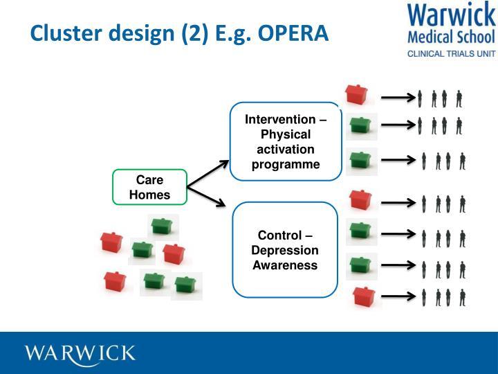 Cluster design (2) E.g. OPERA
