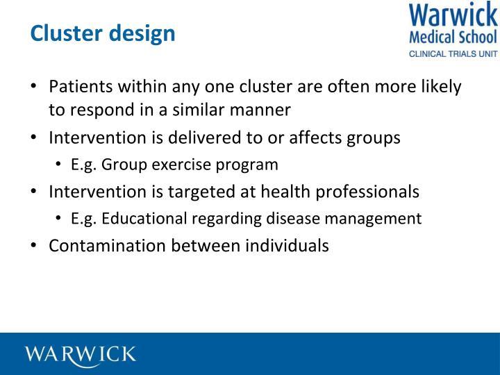 Cluster design