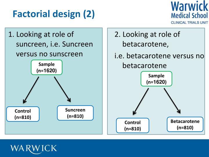 Factorial design (2)