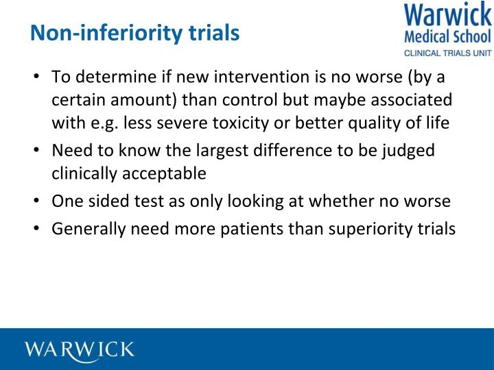 Non-inferiority trials