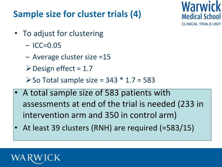 Sample size for cluster trials (4)