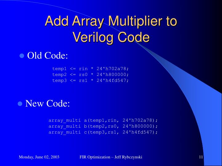 Add Array Multiplier to
