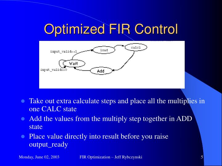 Optimized FIR Control